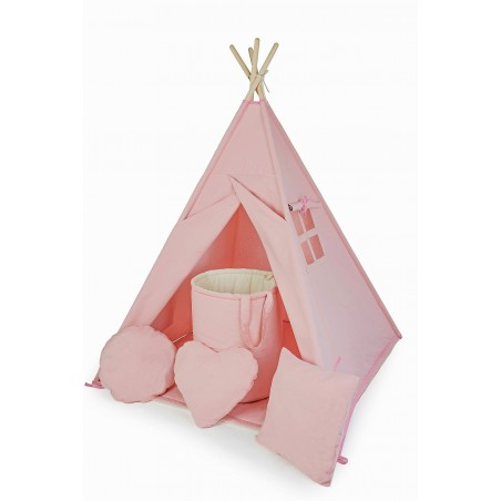 Namiot Tipi Pudrowy Róż - 10 Elementów