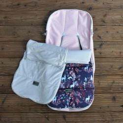Śpiworek do wózka i fotelika samochodowego Reindeers Powder Pink