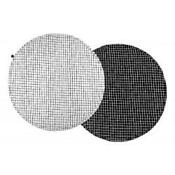 Mata do zabawy Monochrome Grids czarna kratka