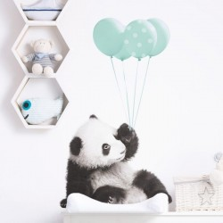 Naklejka Panda Balony Mięta