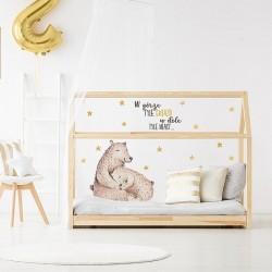 Naklejki na ścianę - Śpiące Niedźwiadki DK257