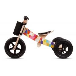Rowerek biegowy drewniany 2w1 Twist Mosaic Black Edition