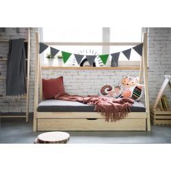 Łóżko Tipi bez barierek z szufladą