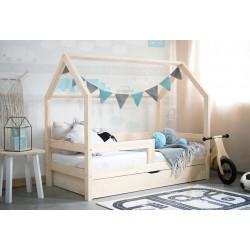 Łóżko Domek Barierra z szufladą w stylu skandynawskim