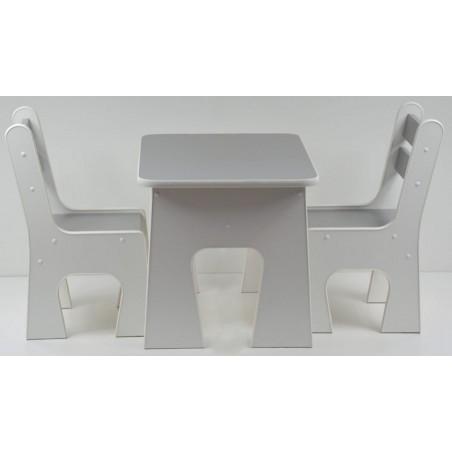 Otwierany stolik z krzesełkami z szufladą Grafit