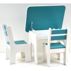 Otwierany stolik i krzesełka z szufladą Ocean