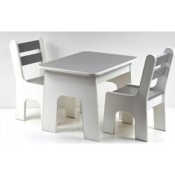 Otwierany stolik i krzesełka z szufladą Grafit