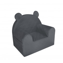 Fotelik dla dziecka Velvet Dark Gray