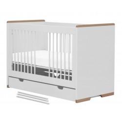 Łóżeczko białe 120x60 Snap Pinio