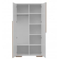 Szafa 2-drzwiowa biała Snap Pinio