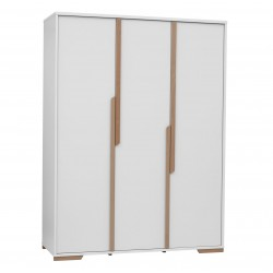 Szafa 3-drzwiowa biała Snap Pinio