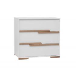 Komoda 3-szufladowa biała Snap Pinio