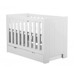 Łóżeczko białe 120x60 Calmo Pinio