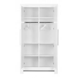 Szafa 2-drzwiowa biała Calmo Pinio