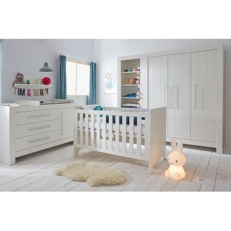 Szafa 3-drzwiowa biała Calmo Pinio
