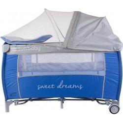 Łóżeczko turystyczne niebieskie Sweet Dreams