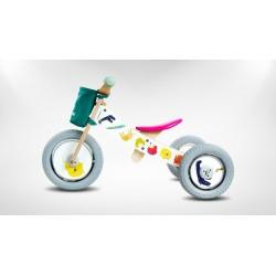 Rowerek biegowy 2w1 Biały Safari