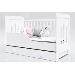 Łóżeczko dla dziecka Zuza 140 x 70 z szufladą