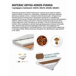 Materac Pianka + Gryka + Kokos ( 8,5 cm )