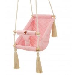 Kołysko-Huśtawka dla Dzieci Qalma Plus - Pink