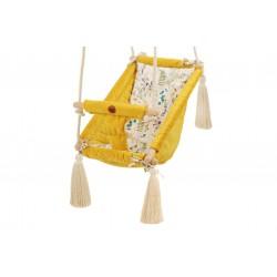 Kołysko-Huśtawka dla Dzieci Qalma Plus - Mustard