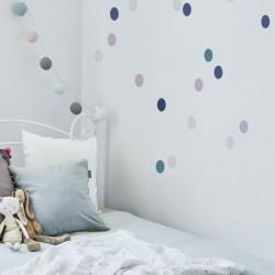 Naklejki na ścianę - Confetti 1 GRANAT LILIA TURKUS