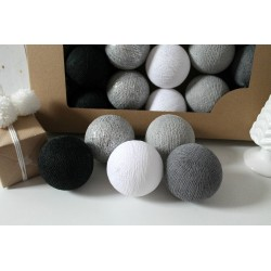 COTTON BALLS SILVER WINTER