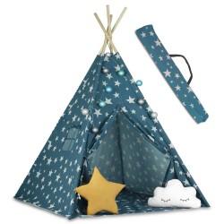 Namiot tipi Niebieski ze światełkami