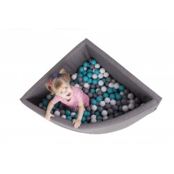 Suchy basen z piłeczkami - ĆWIERĆ KOŁO 90 x 40