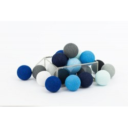 COTTON BALLS BLACKNESS BLUE