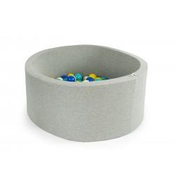 Suchy basen z piłeczkami okrągły (200 SZT) JASNOSZARY 40CM