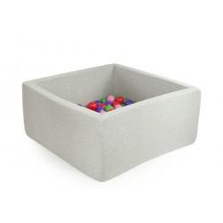 Suchy basen z piłeczkami (200 SZT) JASNOSZARY 90X90X40 CM