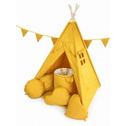 Namiot Tipi Żółty 10 Elementów