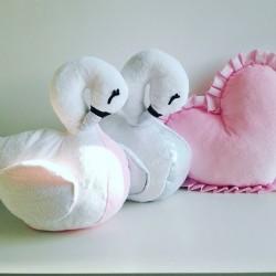 Poduszka przytulanka Łabędź Biały