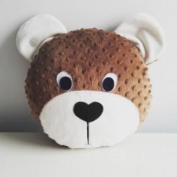 Poduszka przytulanka Miś - ecru
