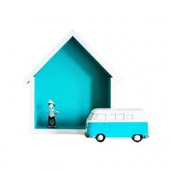 Domek półka - mały- turkus