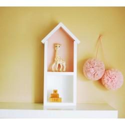 Domek półka - średni - brudny róż