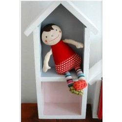 Domek półka - średni - szary + róż