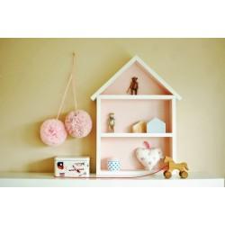 Domek półka - duży - róż