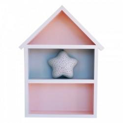 Domek półka - duży - róż + szary
