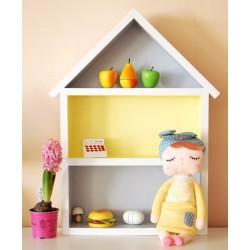 Domek półka - duży - szary + żółty