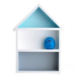 Domek półka - duży - szary + niebieski