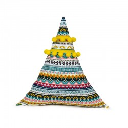 Poduszka trójkąt z pomponikami Meksykańska Przygoda