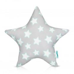 Poduszka ozdobna MINT & GREY STARS 'STAR'