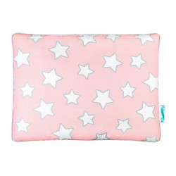 Poduszka bawełniano-welurowa PINK STARS
