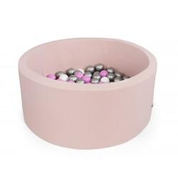 Suchy basen z piłeczkami okrągły ( PUDROWY RÓŻ )