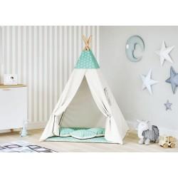 Namiot Tipi dla dziecka - Gwiazdki miętowe - beż