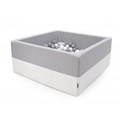 Suchy basen kwadrat + 250 Piłeczek ( JASNOSZARY+ECO )