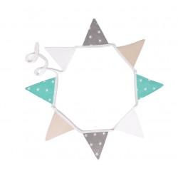 Girlanda z proporczyków Miętowa perełka