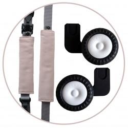 ROLLERSY Soft Rose - kółka z uchwytem do fotelików samochodowych 0-13 kg